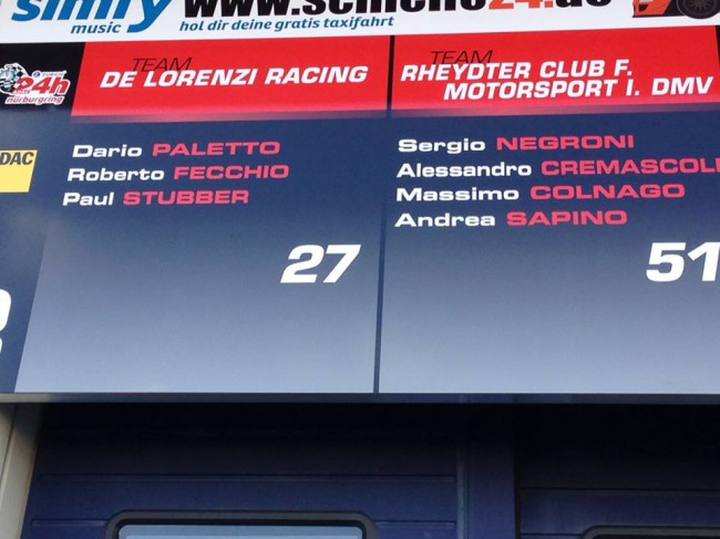 24-Ore-Nurburgring-GDL-Racing-Spino-Colnago-Cremascoli-Negroni-box