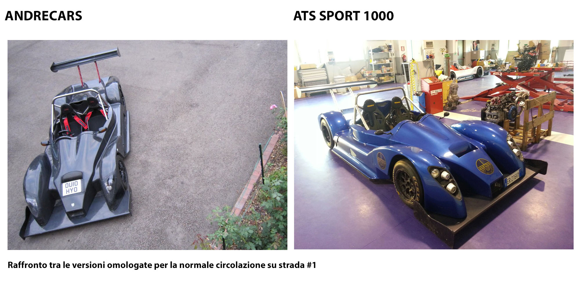 raffronto andrecars ats sport 1000 targate fronte track fever. Black Bedroom Furniture Sets. Home Design Ideas