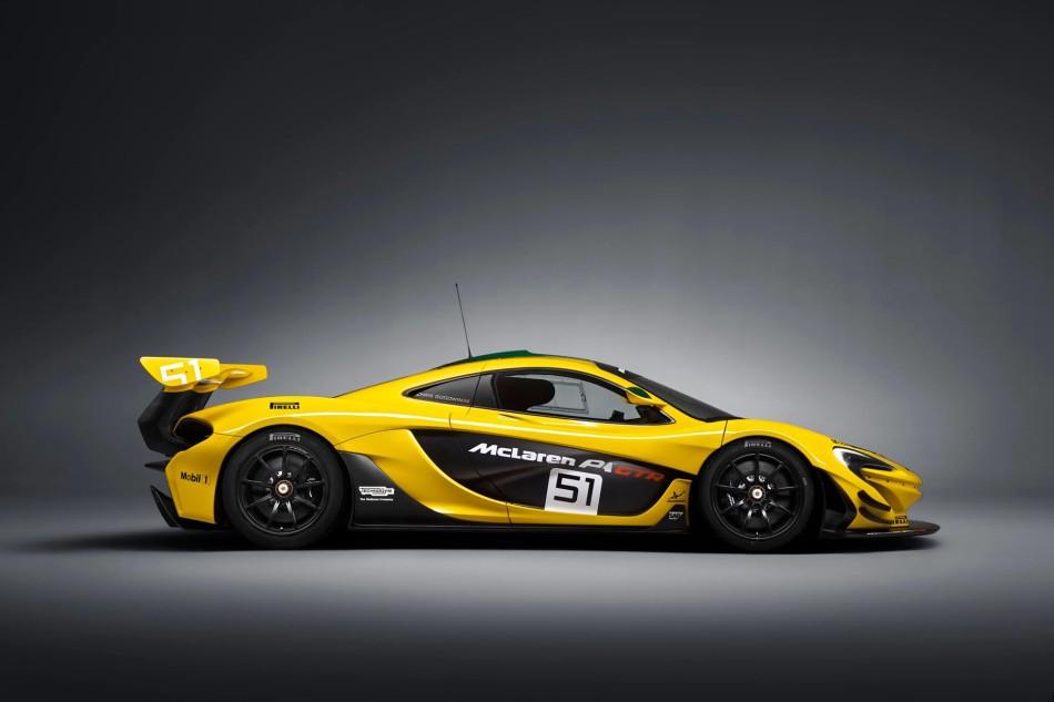 McLaren P1 GTR lato