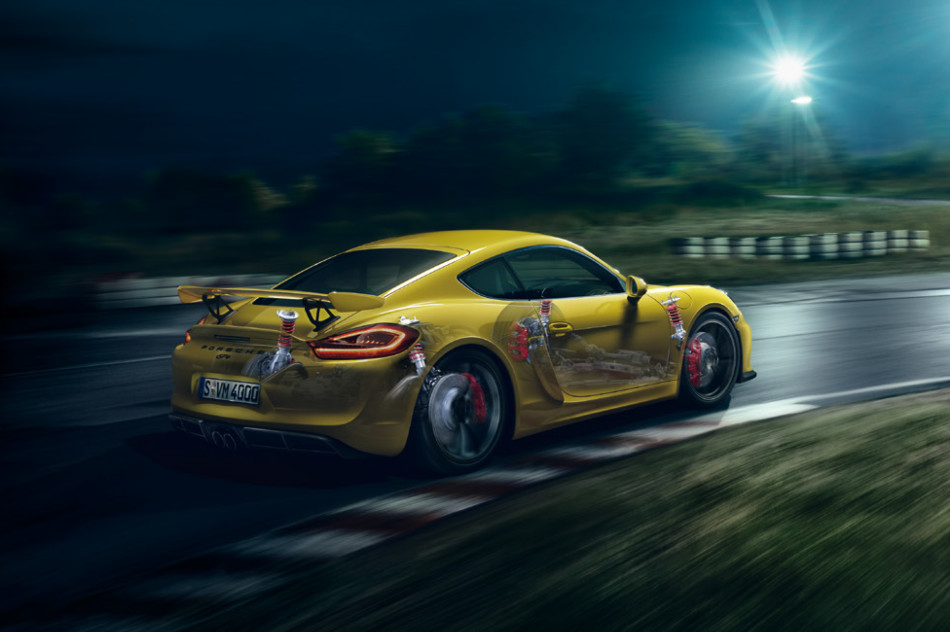 Cayman GT4 under the skin