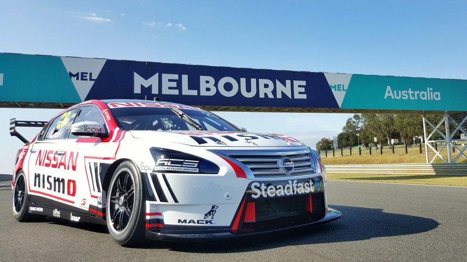 PHILLIP ISLAND, Australia (Jan. 28, 2016) Ð Nissan has unveiled its 2016 Australian motorsport activities at the Phillip Island Grand Prix Circuit in Victoria today. The 2016 livery for Michael CarusoÕs #23 NISMO Nissan Altima V8 Supercar was revealed, carrying a variation of the global GT3 colors that the Altima carried in 2015. Also on track was the #1 Nissan GT-R NISMO GT3 that will aim to take back-to-back Bathurst 12 Hour victories for Nissan next week, with an Australian flag added to the now-familiar livery.