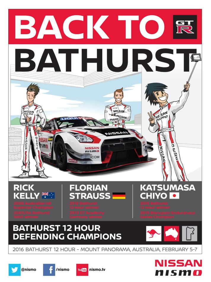 INFOGRAPHIC: Nissan confirms driver lineup for Bathurst 12 Hour